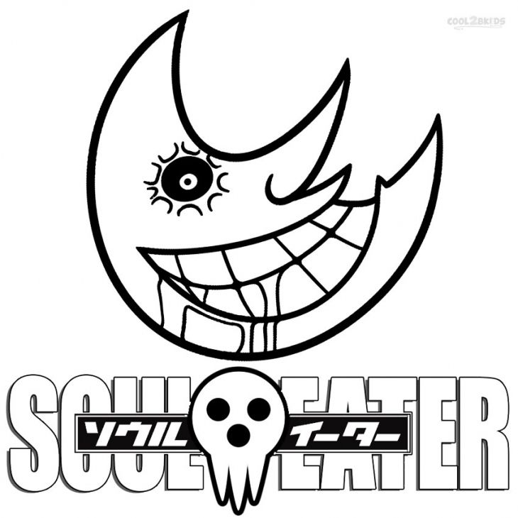 The Creepy Moon In Soul Eater Coloring Pages | Embroidery patterns ...