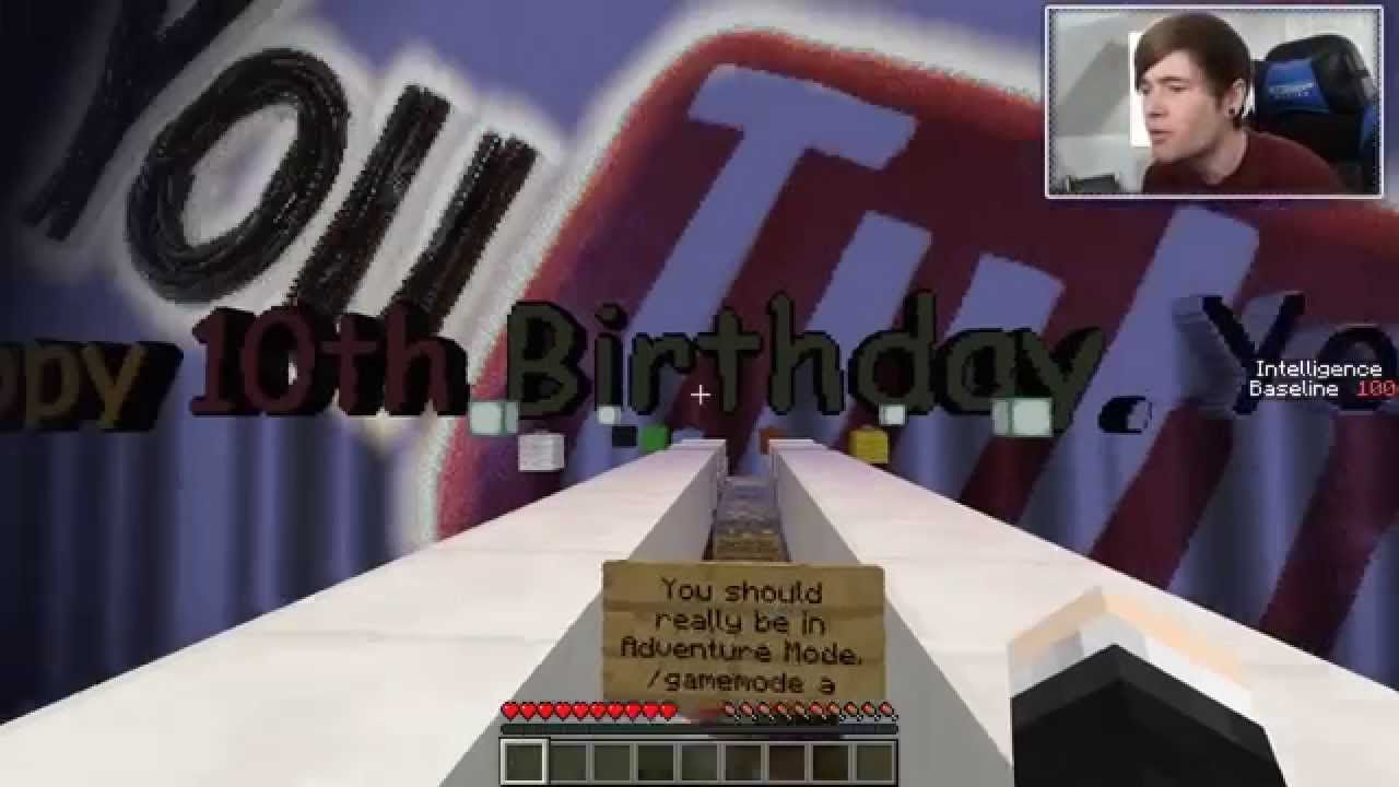 Minecraft THE IMPOSSIBLE QUIZ ! Custom Map ♫ TheDiamondMinecart ♫ DanTDM
