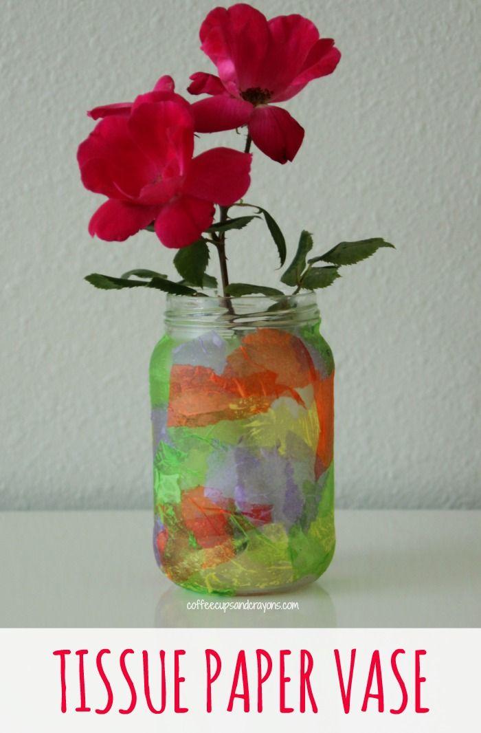 Homemade Tissue Paper Vase Craft Kid Blogger Network Activities