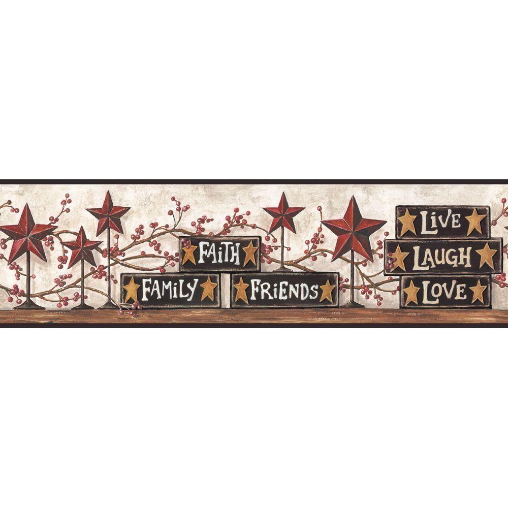York Wallcoverings Stars and Blocks on Shelf Wallpaper