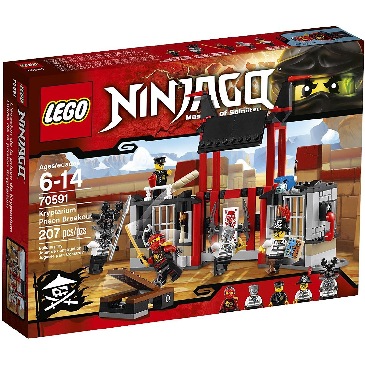 7b466d6e1c5c0 LEGO Ninjago 70591 Kryptarium Prison Breakout Building Kit (207 Piece) *  Visit the image link more details. (This is an affiliate link) #ToysGames