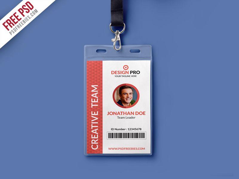 Office Identity Card Template Psd Dengan Gambar Kartu Nama
