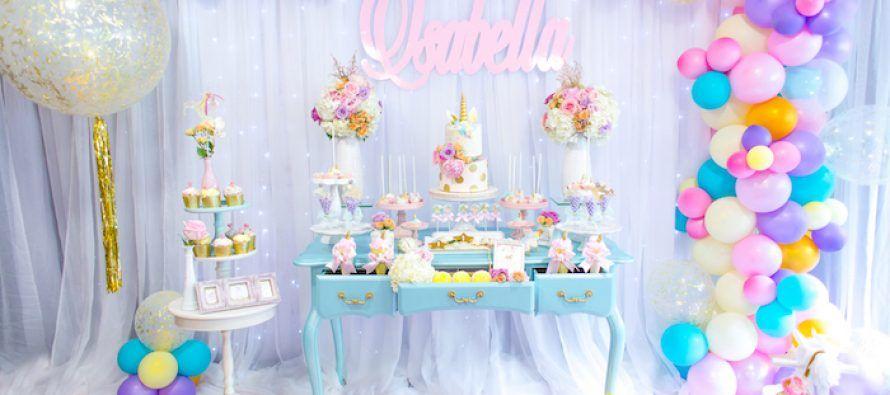 Decoraci n para cumplea os de unicornios aqua party for Decoracion de mesa de cumpleanos