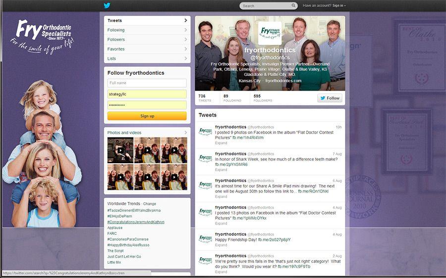 Twitter fb google social media work for fry