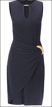 Joseph Ribkoff Lbd Little Black Dress Gold Buckle Trim Fashion Josephribkoff Lbd Littleblackdress Vestidos De Mulher Vestidos Mulher