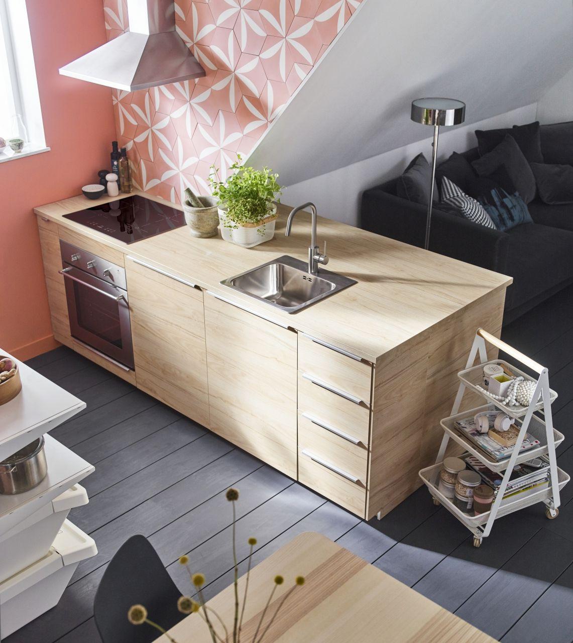 Ikea Piano Di Lavoro Cucina.Ekbacken Piano Di Lavoro Effetto Frassino Laminato Nel