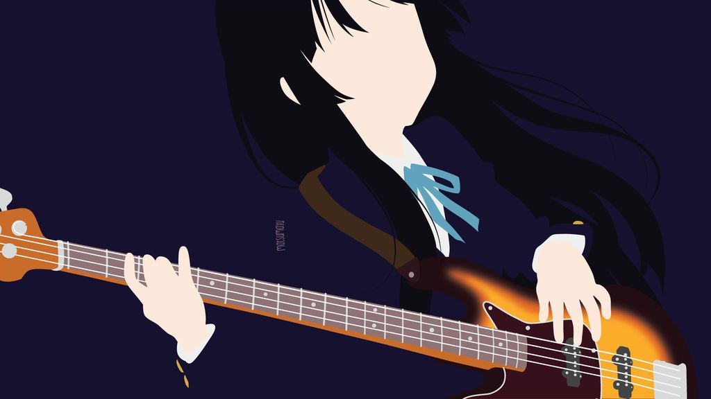 Mio Akiyama From K On Minimalist By Matsumayu Anime Anime Sketch Anime Wallpaper