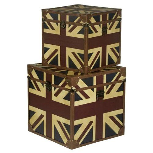 Vintage MEDIUM Retro LEATHER Union Jack Storage Box wooden chest trunk  sc 1 st  Pinterest & Vintage MEDIUM Retro LEATHER Union Jack Storage Box wooden chest ...