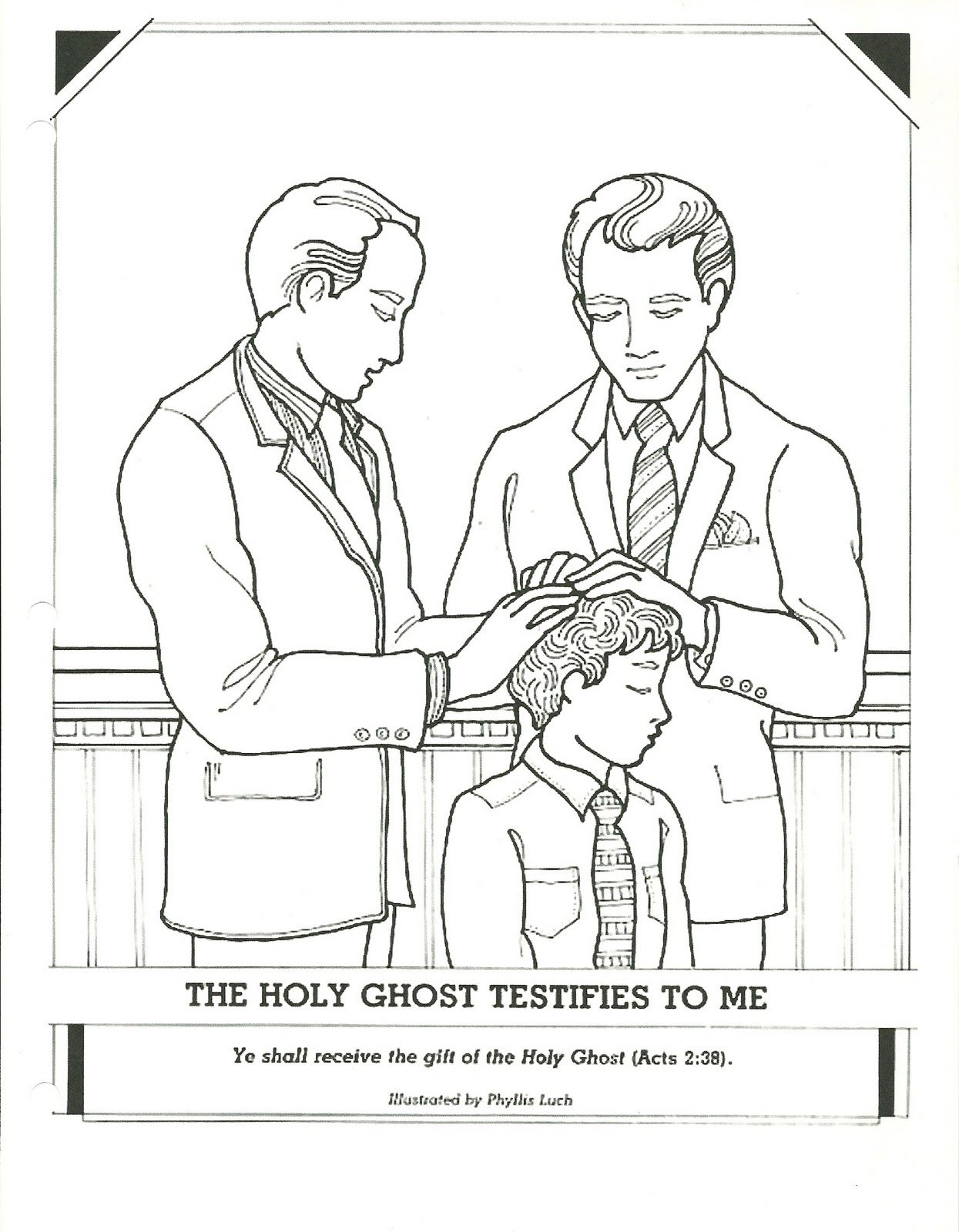 Primary 2 Manual Lesson 13 The Gift Of The Holy Ghost Can Help Me When I Explain That After Baptism We Have Hands Lds Coloring Pages Holy Ghost Coloring Pages