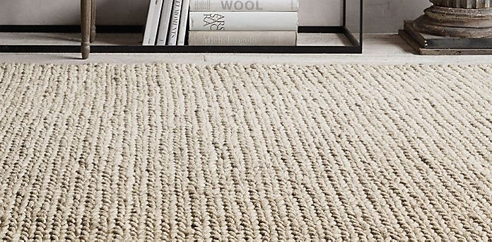 Chunky Braided Wool Rug Collection | RH Jeffu0027s Study And Parlour 10 ...