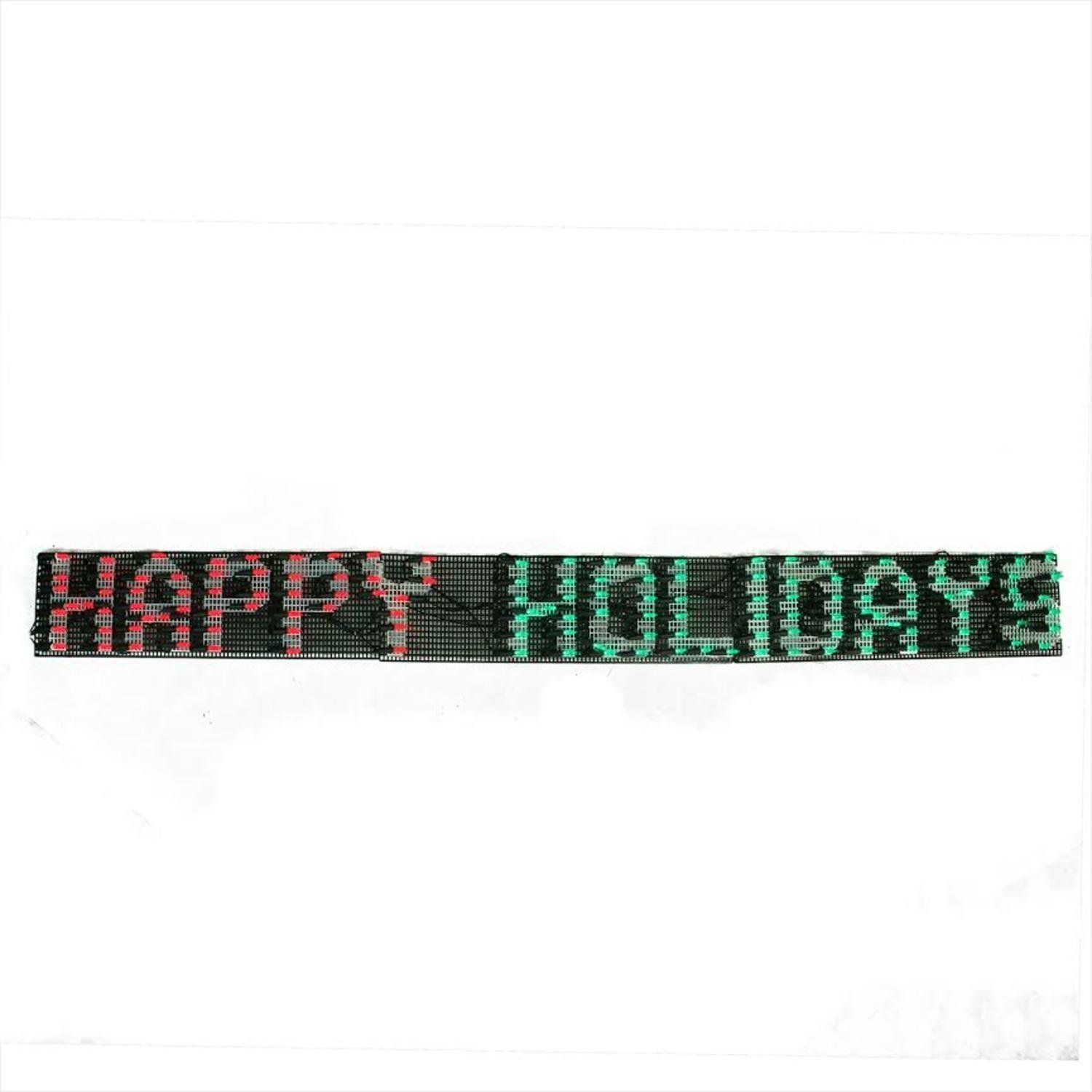 60 x 6 Happy Holidays LED Lighted Christmas Banner Red and Green