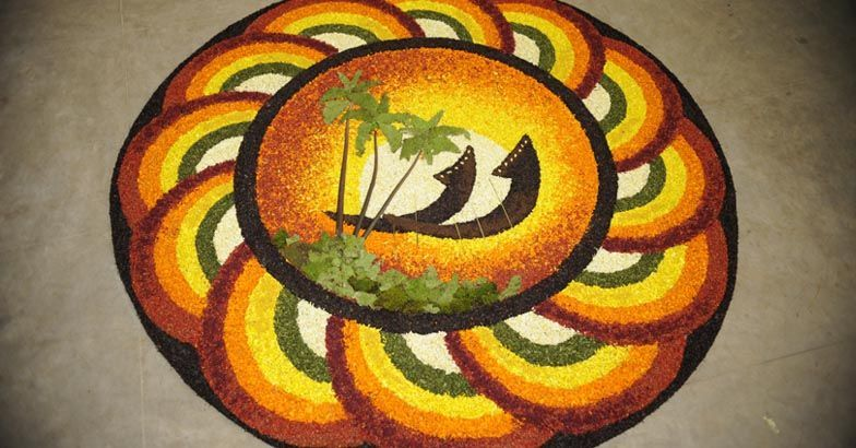 2132132   Onam pookalam design, Colorful rangoli designs ...