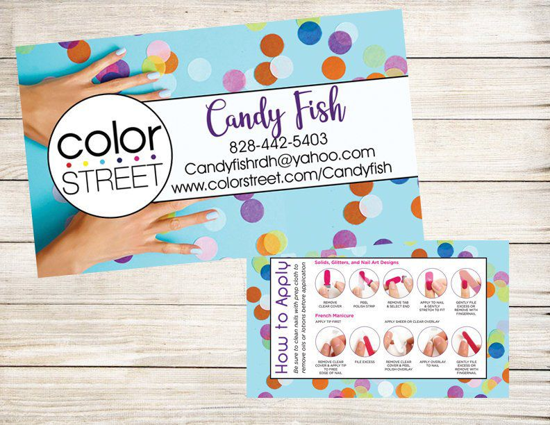 NAILS Rainbow Cash & Carry Business Card Calling