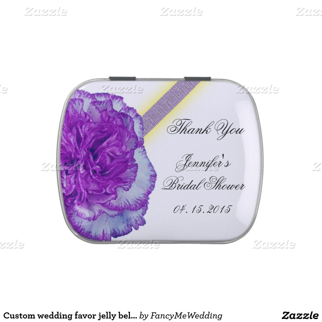 Custom wedding favor jelly belly jelly belly tins | Bridal Shower ...