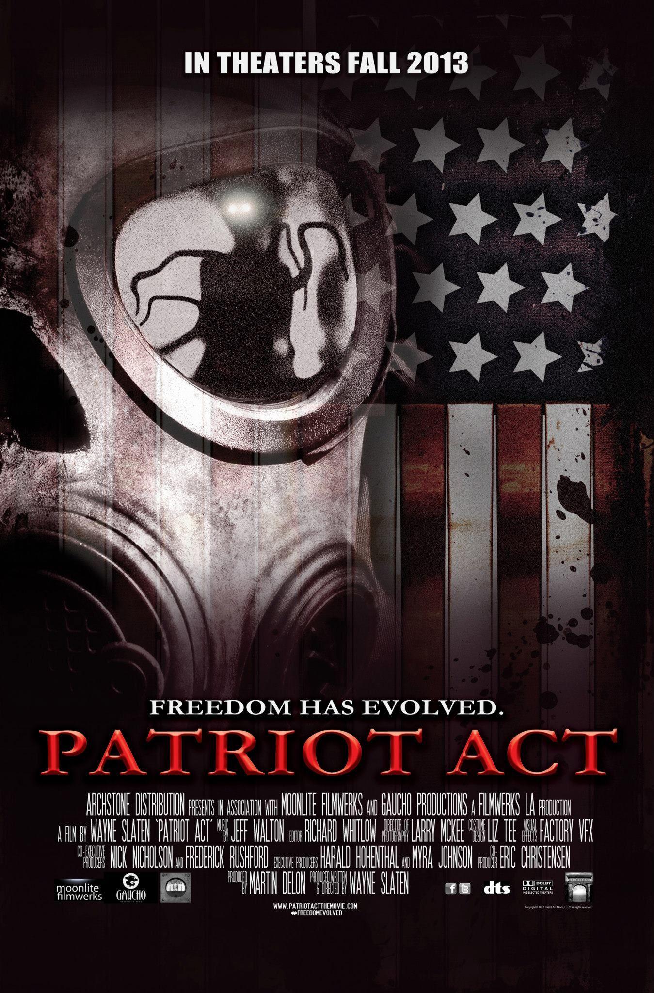 Patriot Act 2013 Movie Poster Movie Posters Internet Movies Top Movies