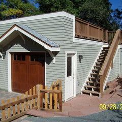 Traditional Garage And Shed By Esf Construction Garage