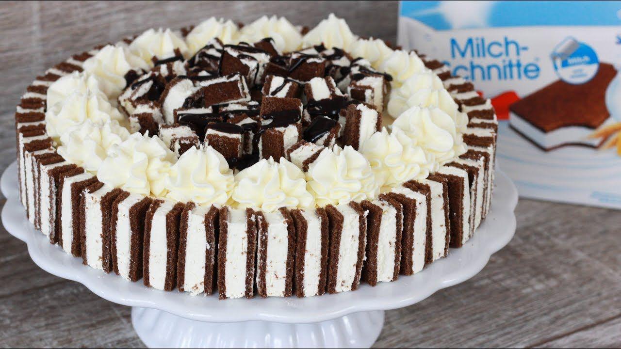 Milchschnittentorte Milchschnitte Torte Rezept Torte Cake