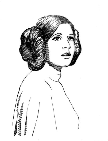princess leia coloring pages - Princess Leia Coloring Pages