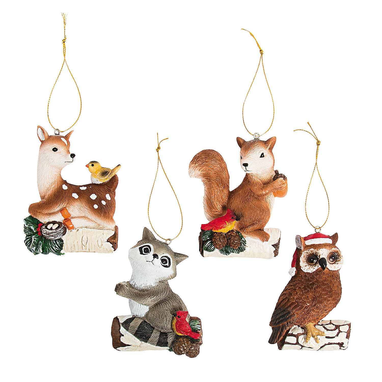 Woodland Animal Ornaments (With images) Animal ornament