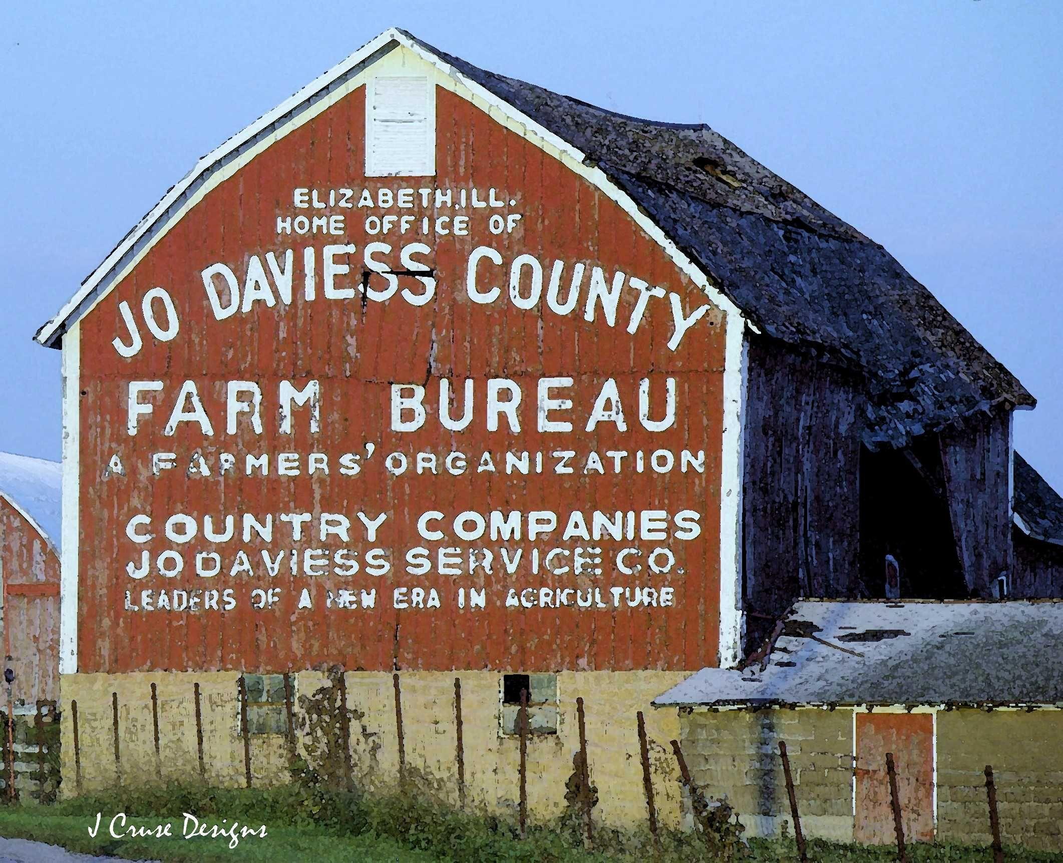 Jo Daviess County Farm Bureau Barn Elizabeth Il By J Cruse