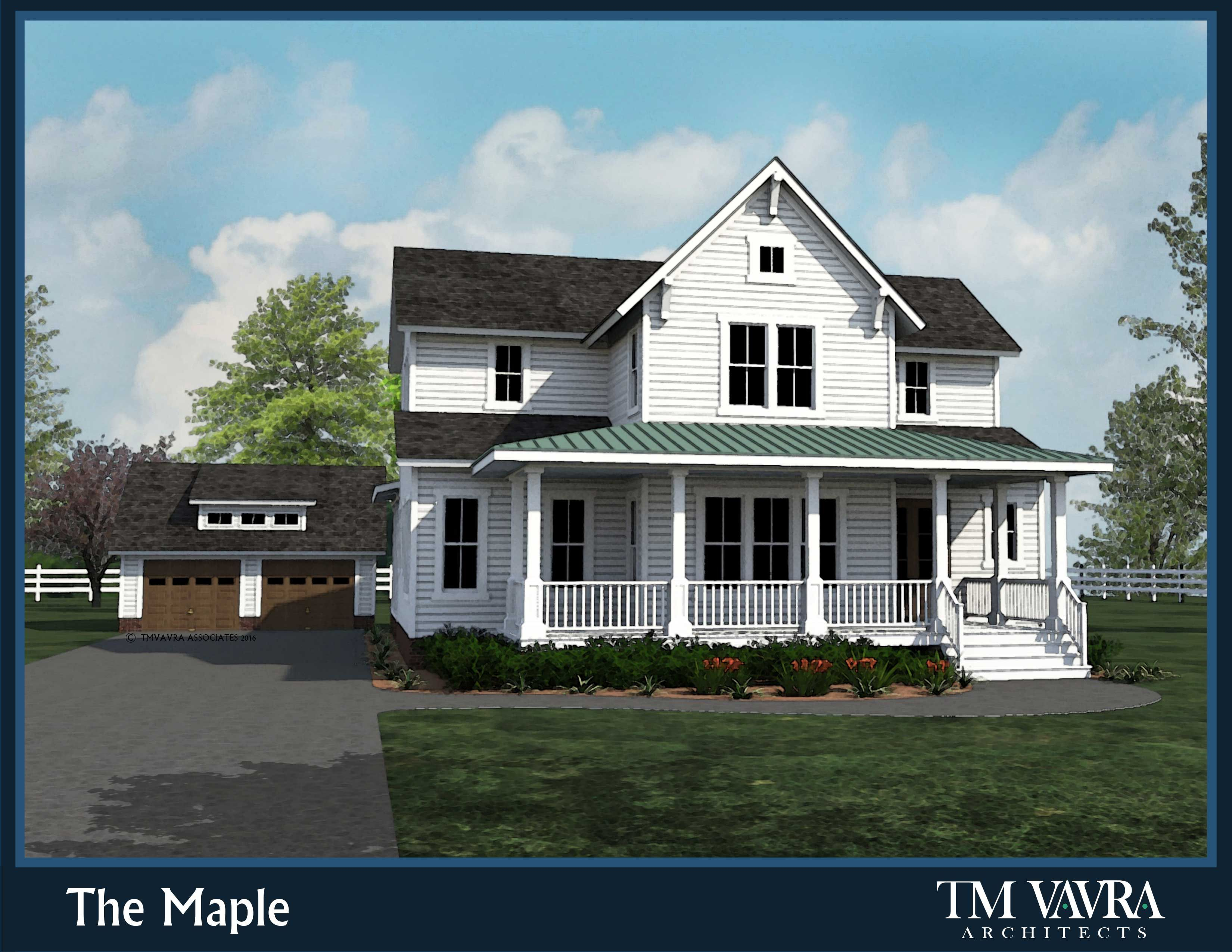 The Maple By Tm Vavra Architects Is A Sure Fit If You Are Looking For A Southern Farmhouse Desig Farmhouse Plans Rustic House Plans Southern Living House Plans