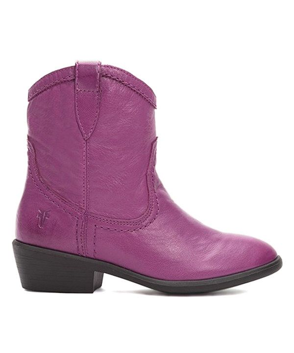 Look at this #Berry Carson #Shortie #Frye #Leather #Cowboy #Boot on #zulily today!