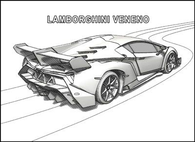 Free Printable Lamborghini Coloring Pages For Kids Race Car