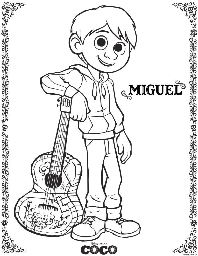 Disney Pixar S Coco Printable Coloring Pages Pixarcoco Disney Coloring Pages Coloring Pages Free Coloring Pages