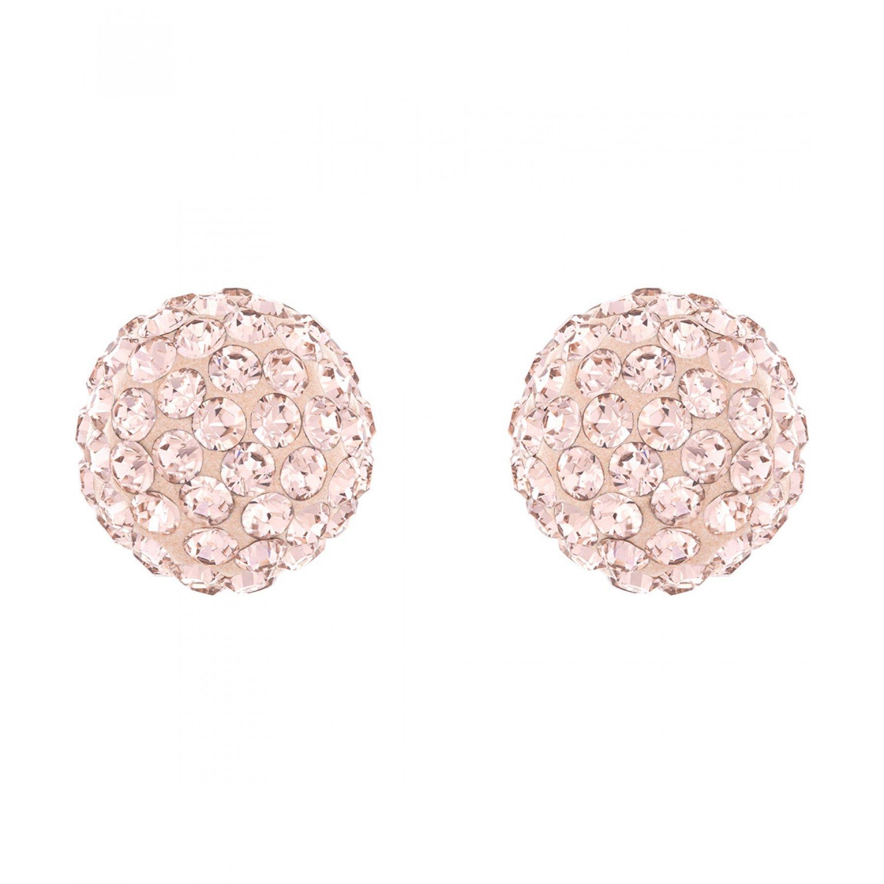 d88f1b7e13b1 Aretes Swarovski de la colección Blow con baño de oro rosa diseño esfera y  aplicaciones de cristales.