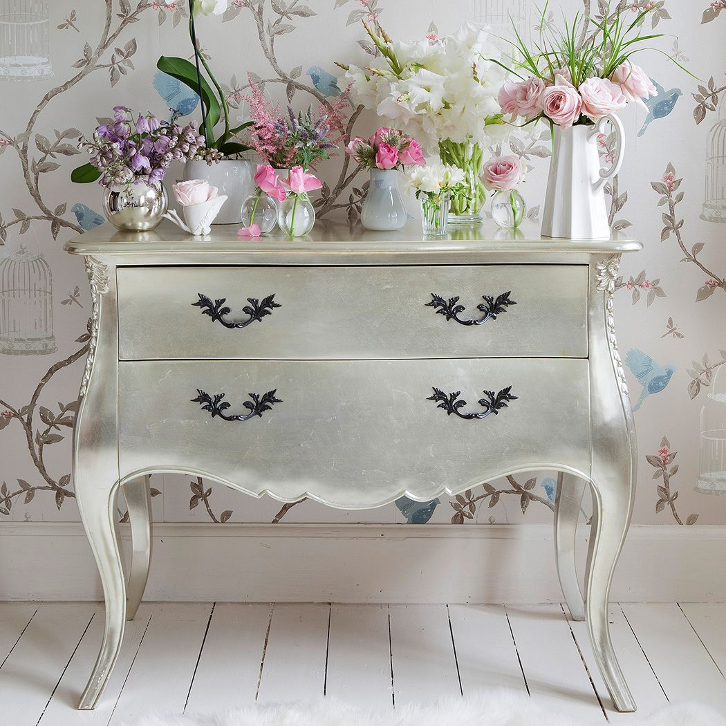 Sylvia Silver Chest of Drawers  |  Drawers & Cabinets  |  Storage  |  French Bedroom Company
