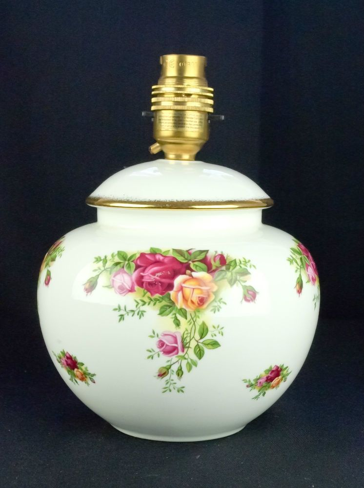 Royal Albert Old Country Roses Table Lamp 1st Quality
