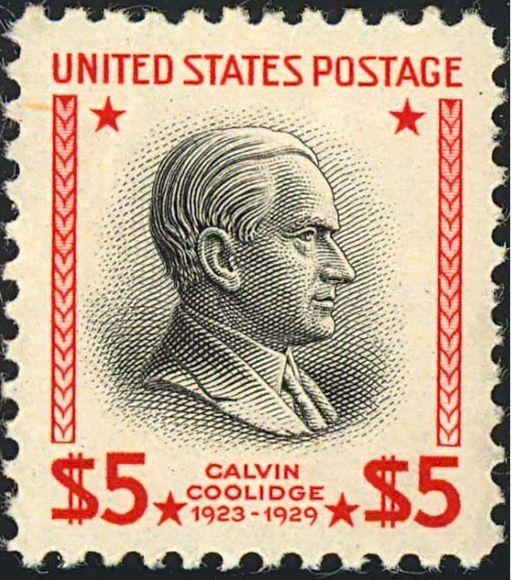 Resultado de imagem para SELO DE Calvin Coolidge