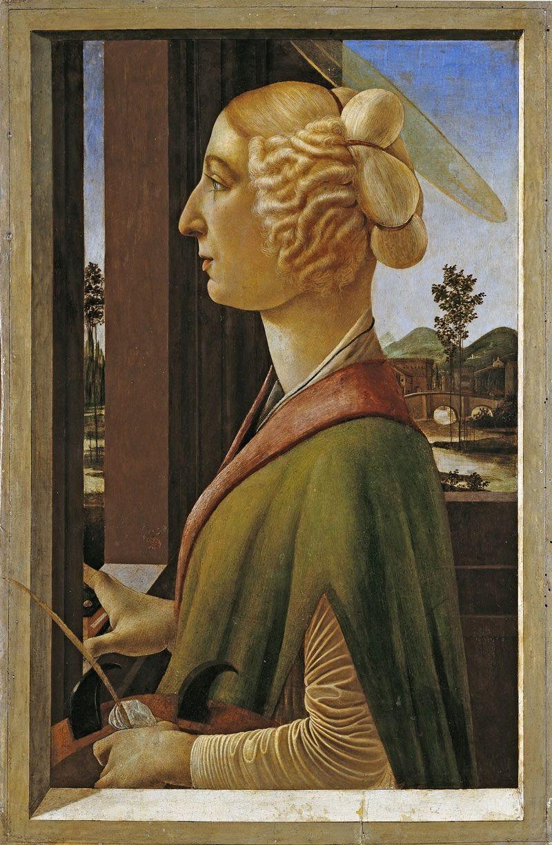 Portrait of Catherina Sforza by Sandro Botticelli