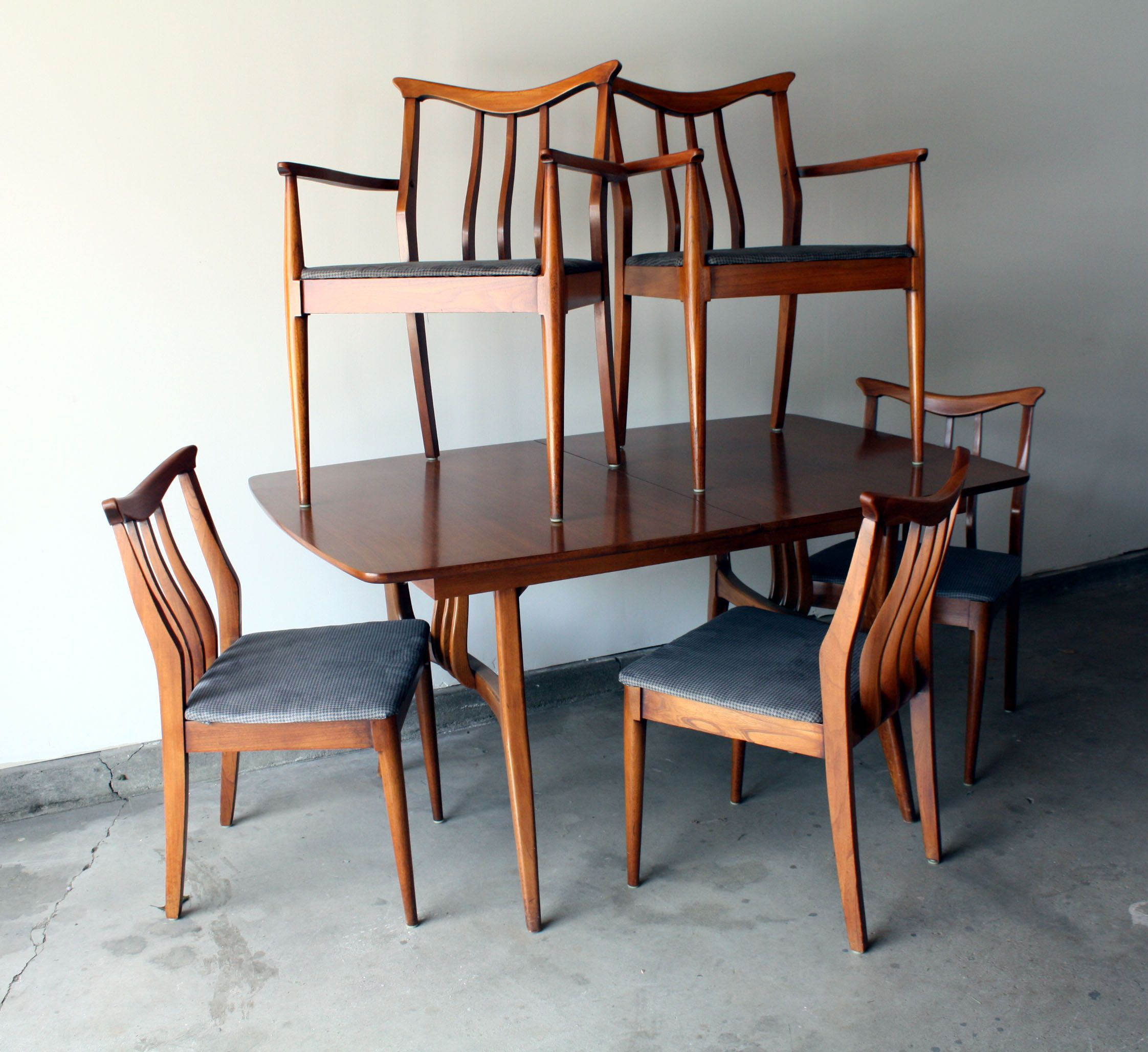 1960s Mid Century Modern Dining Set Table and Chairs