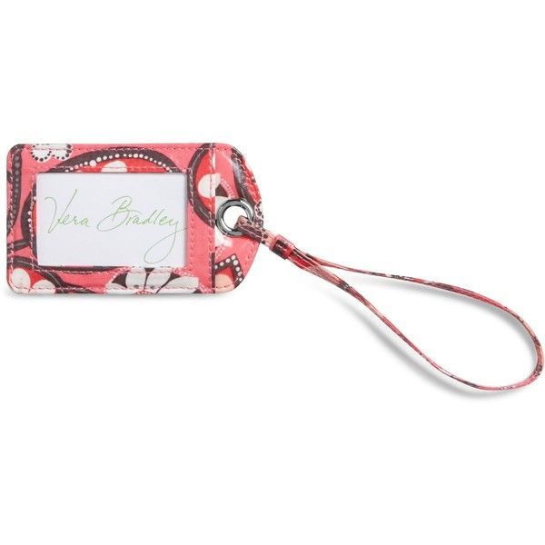 Vera Bradley Luggage Tag in Blush Pink ($12) ❤ liked on Polyvore featuring bags, luggage and blush pink