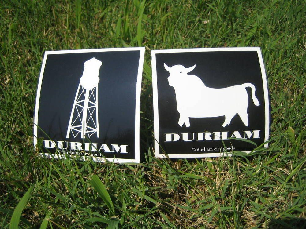 Durham City Goods Vinyl Iconic Stickers