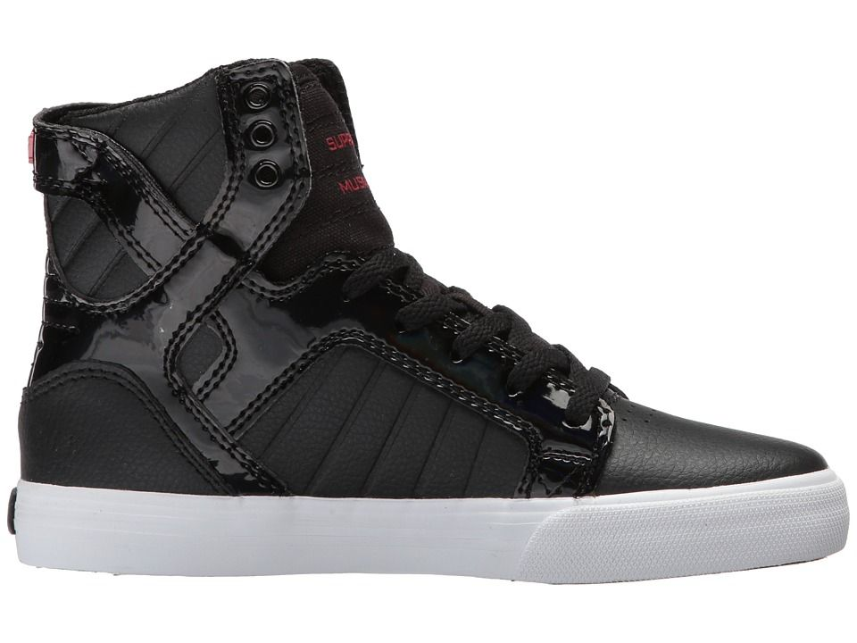 Supra Kids Boy's Skytop (Little Kid/Big Kid) Black/Red/White Athletic Shoe cR4ylLmhPZ