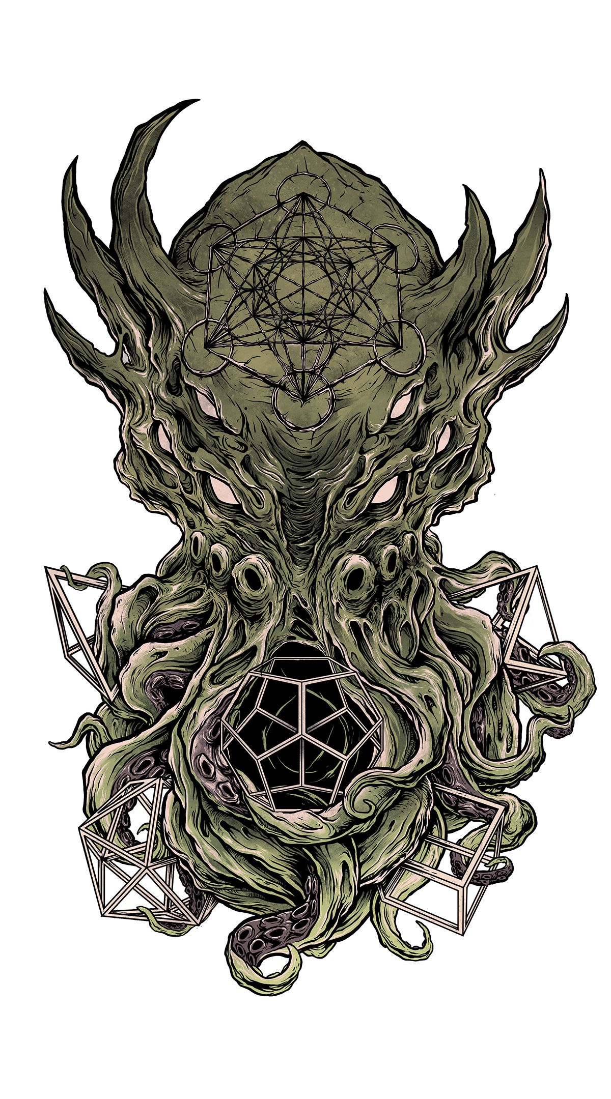 cthulhu tattoo concept on behance tattoo in 2019