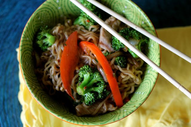 Super quick and easy Pork and Noodle Stir Fry | Mrs. Schwartz's Kitchen