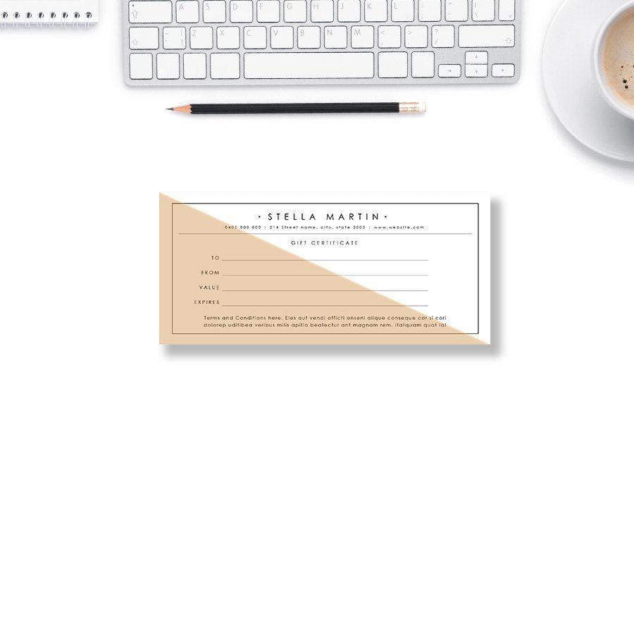 Gift Certificate Template  Gift Voucher  Printable Voucher