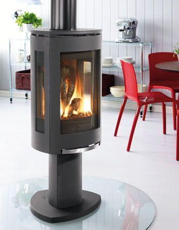 Interesting Free Standing Gas Fireplace Modern Wood Burning