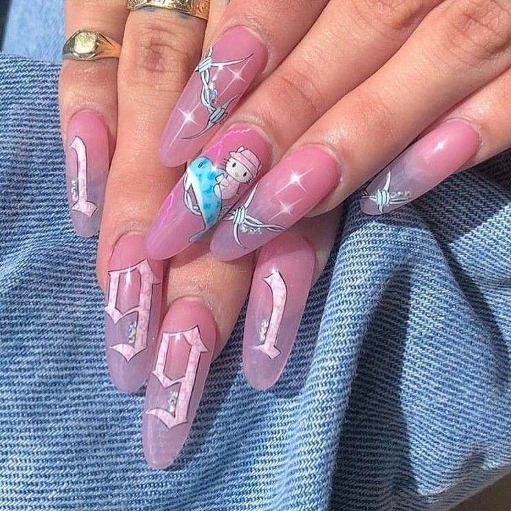 subscribe/подпишитесь Gel nails, Acrylic nails, Cute