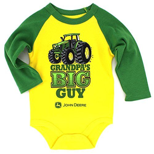 LOT OF 2 NEW John Deere baby Boys One Piece BIGTIME POWER TRACTOR// CLASSIC LOGO