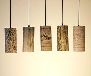 Faux bois pendants