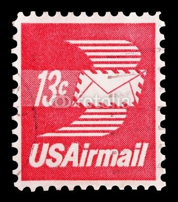 13 Cent US Airmail Postage Stamp Thats What It Would Cost To Send A Letter Round The Country Usfotolia