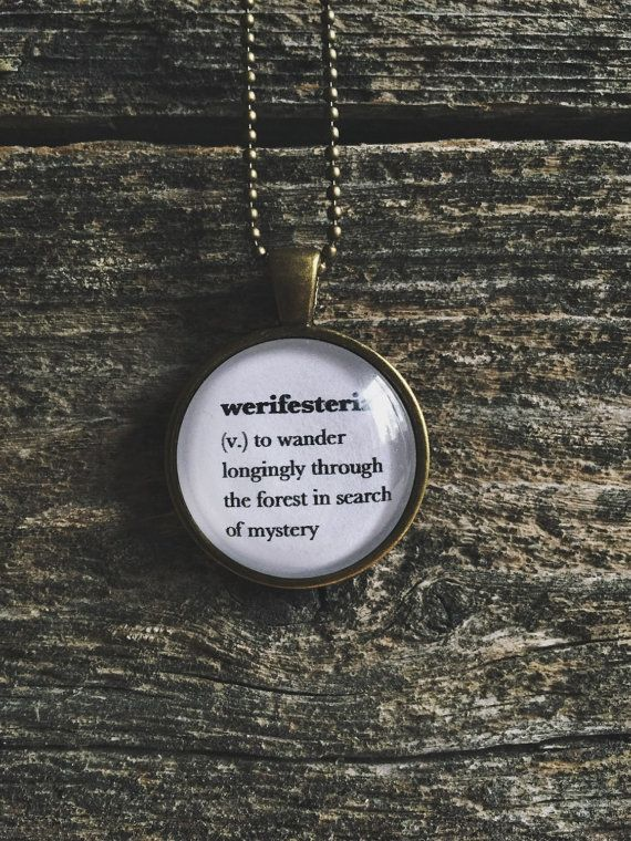 Word necklace hiking necklace camping jewelry werifesteria word necklace hiking necklace camping jewelry werifesteria definition pendant woodland necklace aloadofball Image collections