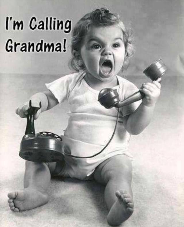 baby call grandma telephone funny cute humor