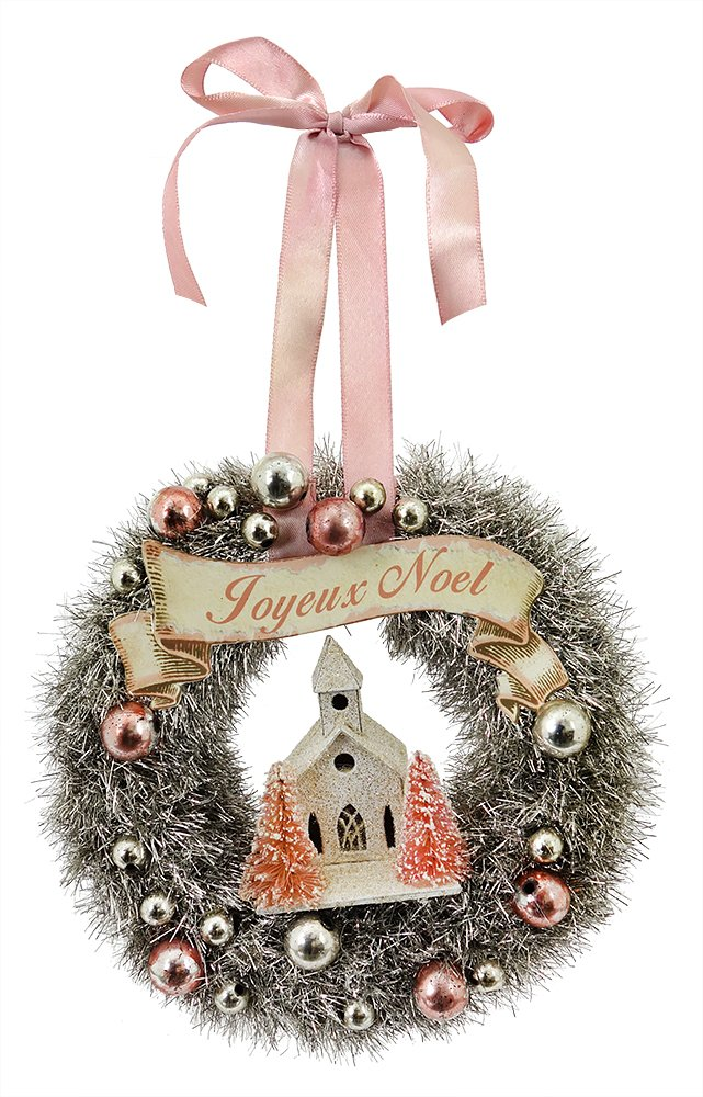 Vintage Christmas Craft Ideas Part - 29: VINTAGE CHRISTMAS TINSEL WREATH ORNAMENT