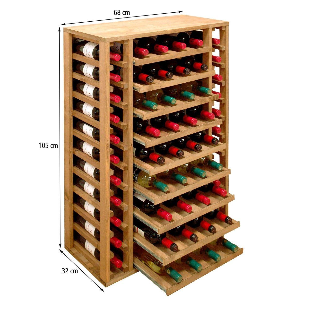 Weinregal PROVINALIA Eiche - modulares Weinregalsystem ...