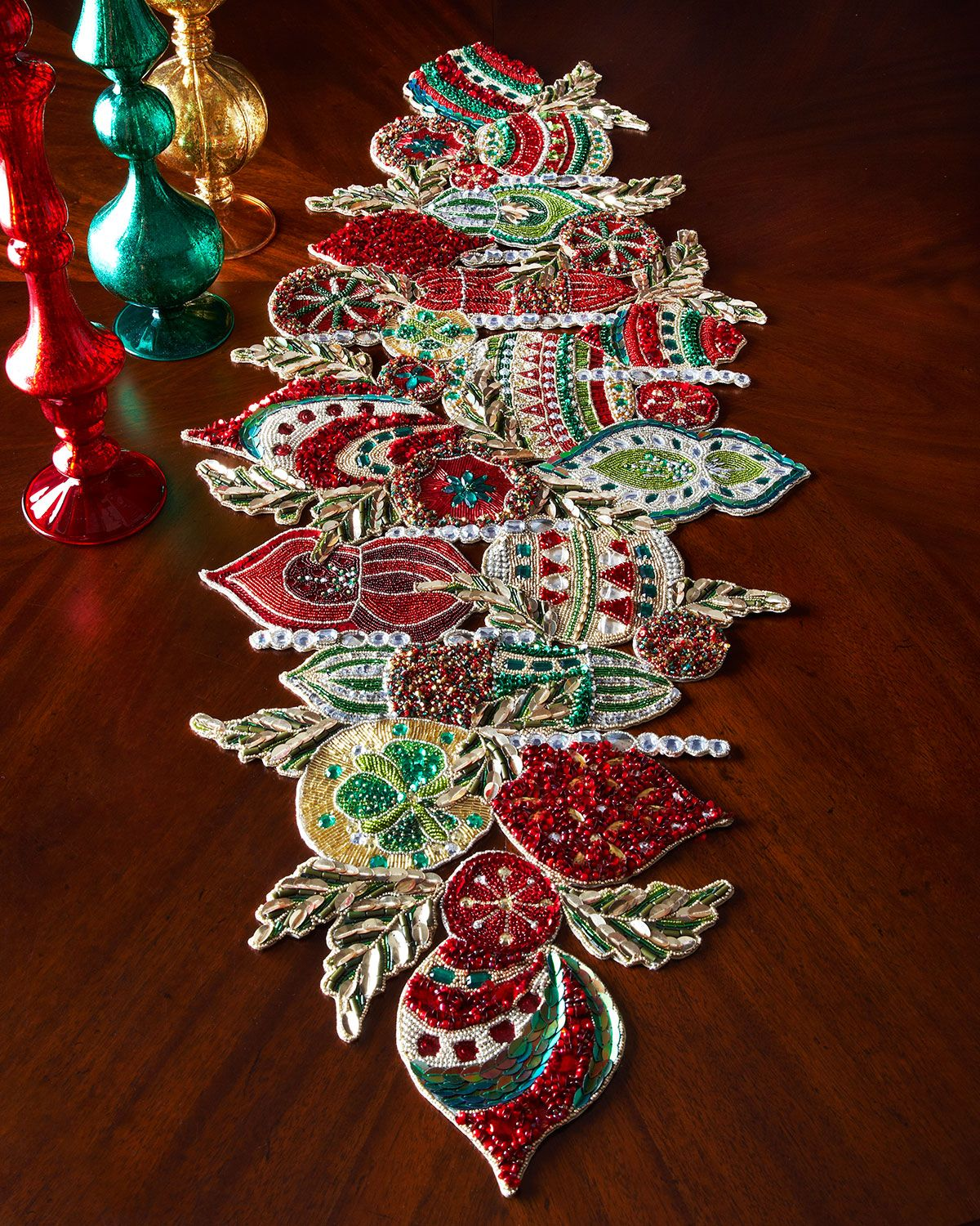 kim seybert ornament table runner neiman marcus table clothes table decorations christmas decorations